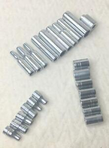 Craftsman-Mixed-1-4-034-Standard-amp-Deep-Well-Sockets-6-amp-12-Point