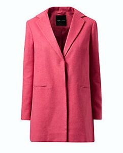 NEW LOOK SINGLE BREASTED BRUSHED FELT FABRIC SALMON PINK COAT ...
