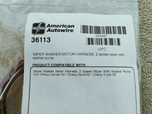 1962 CHEVY II NOVA CORVAIR Windshield Wiper Motor Harness 2 Speed w// Washer USA