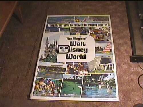 MAGIC OF WALT DISNEY WORLD 1972 ORIG MOVIE POSTER DISNEYLAND