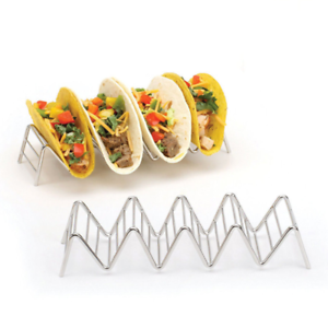 Taco-Holder-Stainless-Steel-Taco-Stand-Mexican-Food-Rack-Shelf-1-4-Slots-USA
