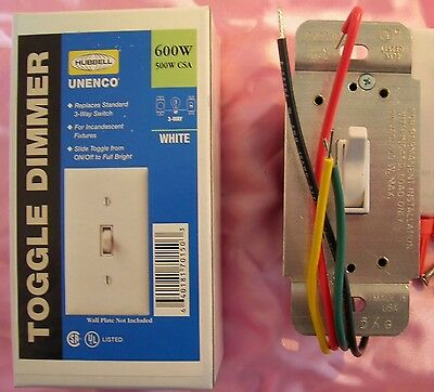 Standard toggle dimmer. White