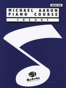Bien Michael Aaron Piano Course Theory Grade 1 Music Book-afficher Le Titre D'origine Bon Pour AntipyréTique Et Sucette De La Gorge