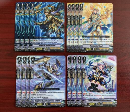 CARDFIGHT VANGUARD V-EB10 GOLD PALADIN R AND C PLAYSET 4x EA CARD 4 MARKERS