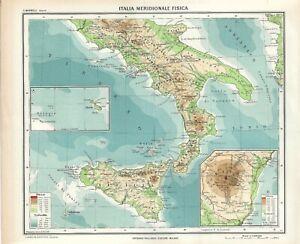 Cartina Di Malta Da Stampare.Carta Geografica Antica Italia Sud Malta Ante 2 Guerra Mondiale 1937 Antique Map Ebay