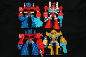 transformers rescue heroes optimus prime bumblebee more action figure lot
