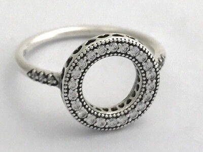 a736b3608 Authentic Pandora Hearts of Pandora Halo Ring, 191039CZ-54, Size 6.5, New