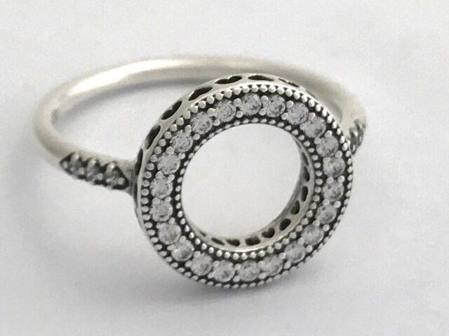 Authentic Pandora Hearts of Pandora Halo Ring, 191039CZ-60, Size 9, New