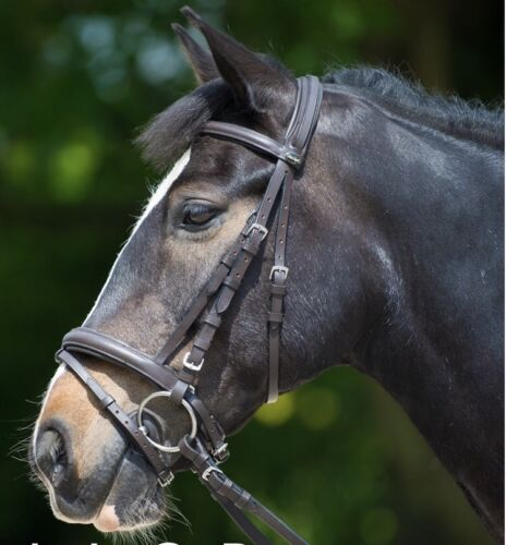 Brown Leather Comfort Bridle,Rubber Reins,Pony