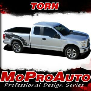 2015-2019-Ford-F-150-TORN-Side-Truck-Bed-4X4-Vinyl-Graphic-Stripe-3M-Decals