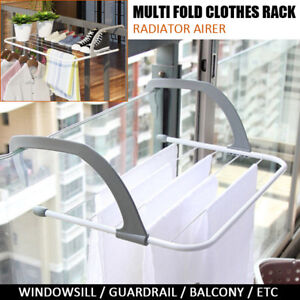 Radiator-Airer-Hanging-Washing-Drying-Indoor-Rack-Foldable-Clothes-Towel-Hanger
