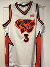 PABA NEW YORK Mesh BASKETBALL JERSEY #3 American Flag Badgers? Size Large