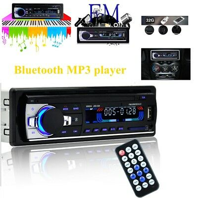 12V Auto Car Bluetooth Stereo MP3 Audio Player FM Radio Receiver USB SD MMC Play