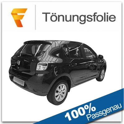 Passgenaue T/önungsfolie passend f/ür Dacia Sandero 5-T/ürer Bj 2008-2012 Black 95