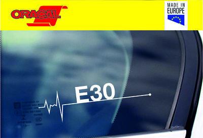 BMW E30 in my Blood heartbeat window sticker decal graphic E36 M3 turbo 320 car