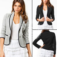 UK New Womens Ladies Stylish Casual Suit Coat Jacket Blazer Size 10- 16 Hot