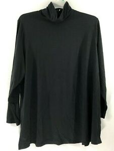 NEW-J-JILL-L-XL-L-S-Turtleneck-Tunic-Knit-Top-Pima-Cotton-Modal-Spx-Black