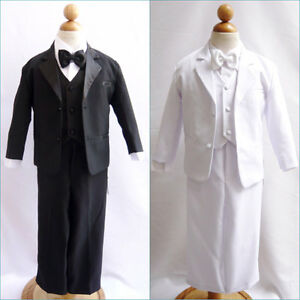 NEW-BOYS-TUXEDO-WITH-VEST-BOW-TIE-BLACK-WHITE-FORMAL-SUIT-5-PC-size-S-20