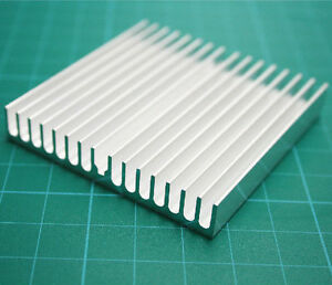 10PCS 60*60*10mm Silver Aluminum Heatsink Heat Sink For IC LED Power Transistor