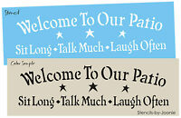 Lg Stencil Welcome To Our Patio Primitive Country Decor Home Craft Signs U Paint