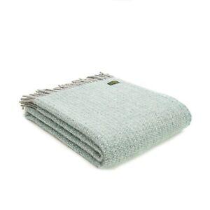 Tweedmill-Wool-Throw-Picnic-Blanket-Knee-Rug-Sofa-Bed-Spread-Blue-Spearmint