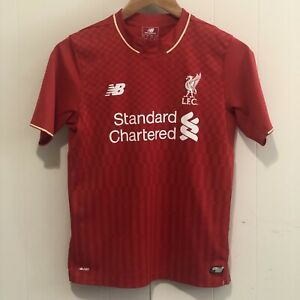 differently 319ae eab59 Details about New Balance Liverpool Football Club Soccer Jersey Youth Large  Emre Can