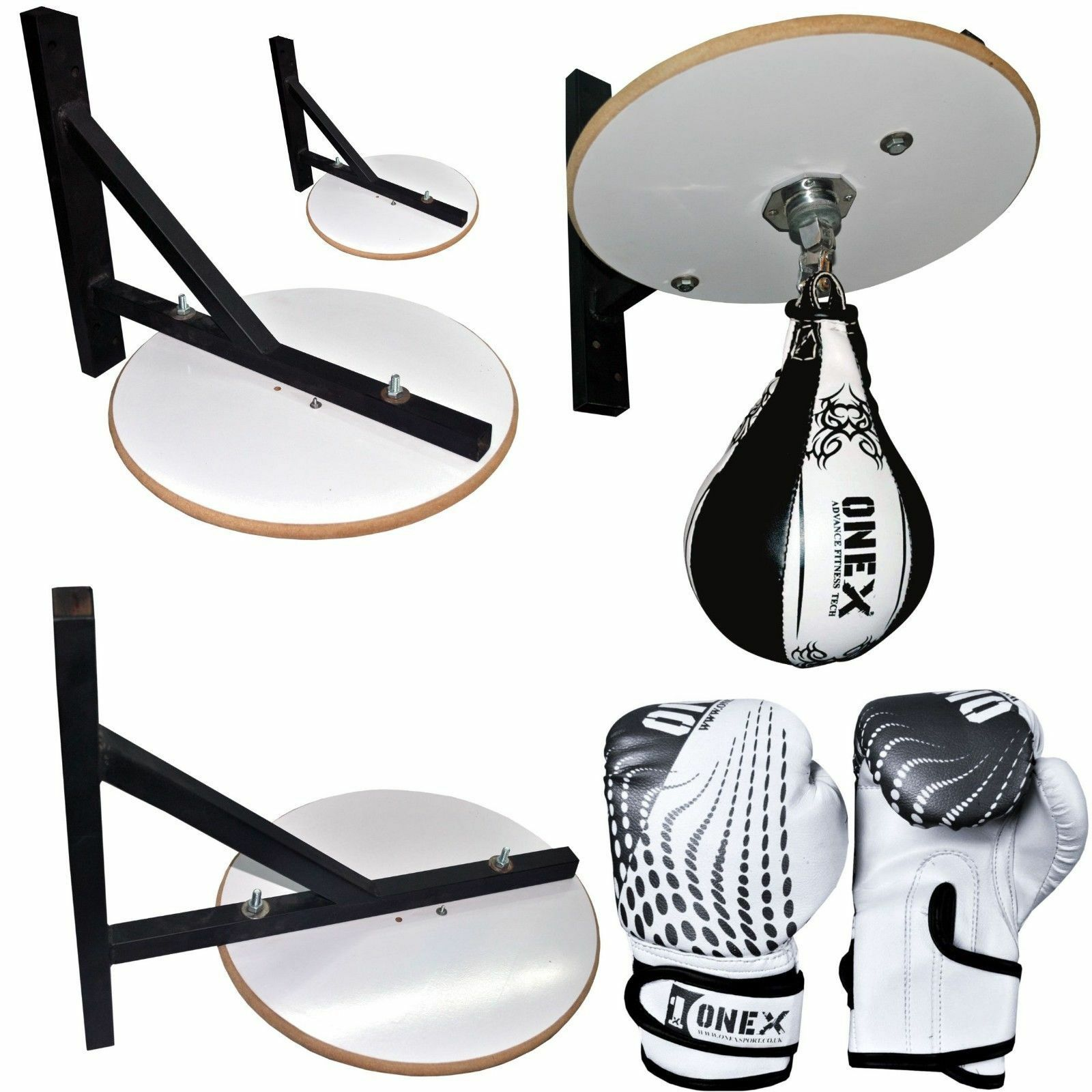 Onex Real Leather Boxing Speed Ball White Platform Set Boxing Ball Boxing Set