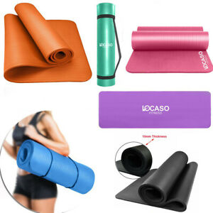 Yoga-Mat-for-Pilates-Gym-Exercise-Carry-Strap-10mm-Thick-Large-Comfortable-DCUK