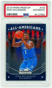 ZION-WILLIAMSON-2019-Panini-Prizm-Draft-Picks-100-PSA-Authentic-ROOKIE-Card-RC