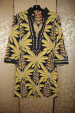 5d2ab8cc8b item 1 Tory Burch Yellow Blue Multi-Color Palm Print 100% Cotton Tunic Cover  Up Dress 4 -Tory Burch Yellow Blue Multi-Color Palm Print 100% Cotton Tunic  ...