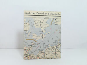 Outline Map Of Country to The Offical DB Railway Guide Nordwestdeutschland 1960