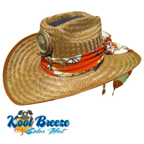 Solar Mens Kool Breeze Solar Cowboy Hat,Straw hat,Cowboy hat,Solar Cooling Hat