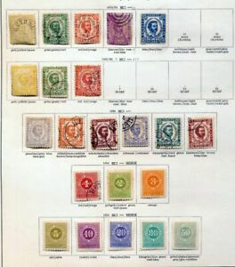 MONTENGRO-1874-1918-M-amp-U-Collection-on-Pages-Appx-110-Items-ZZ45