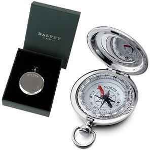 DALVEY-Edelstahl-Vintage-Kompass-keine-Batterie-Compass-und-Geschenk-Box-NEU