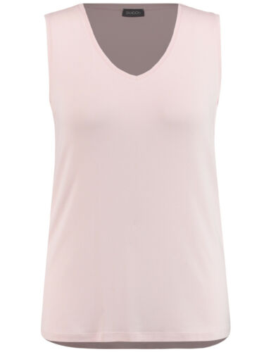Samoon Basic-Top mit V-Ausschnitt by Gerry Weber Neu Shirt rosa Damen Gr.