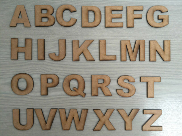 Laser cut 5mm thick Acrylic Letter 50mm Door Sign, Alphabet Personalised
