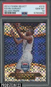 2014 Panini Select Silver Prizm #215 Kevin Durant USA Basketball PSA 10 GEM MINT
