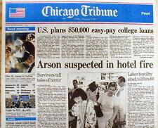1987 newspaper US Gov EASY COLLEGE LOAN PROGRAM StartsTodays STUDENT DEBT CRISIS