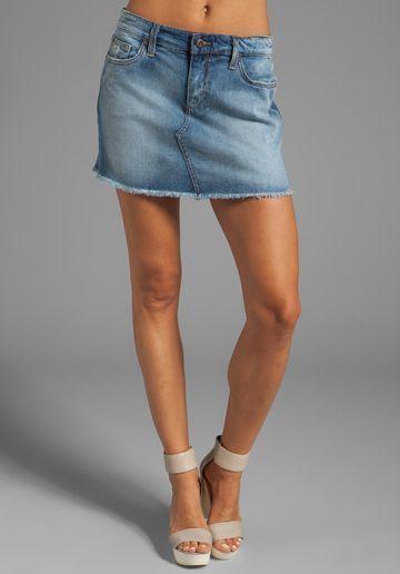 Joe's Jeans Vintage Reserve Mila Easy Cut Off mini skirt denim jean sz 26