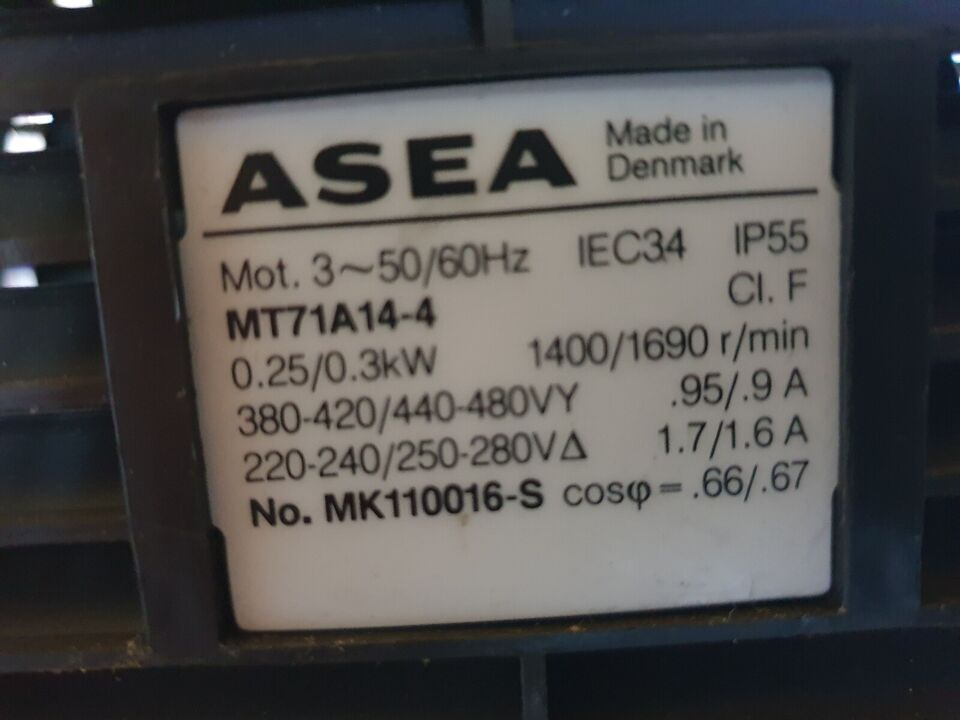 El motor, ASEA motor