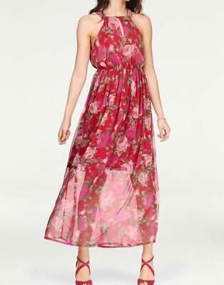 Kleid Maxi Kleid Vero Moda rot Blumen lang Gr S M L | eBay