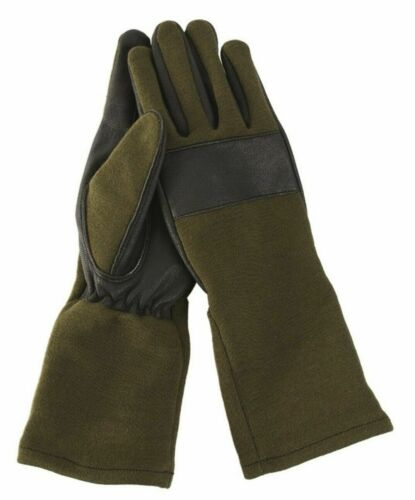 NEU Bundeswehr Kampfhandschuhe Flammen Handschuhe Echt Leder S-2XL 7-11
