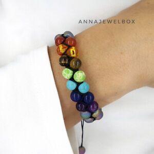 7 Chakra Bracelet Crystal Jewellery Healing Stones Balance Reduce Anxiety Stress
