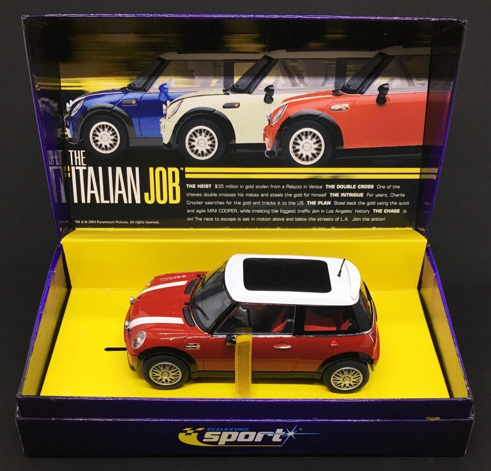 Con 100% de calidad y servicio de% 100.  RARE  MINI COOPER S R53  rojo rojo rojo  THE ITALIAN JOB  SCALEXTRIC 1 32  C2538A   tienda en linea