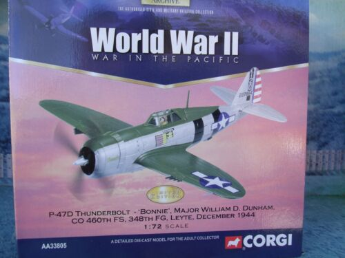 "172 Corgi Aviation AA33803 P47D Thunderbolt 360th FS ""Bonnie"" William Dunham"