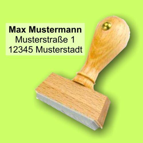 20 x 45 mm Zentriert Adressstempel Holzstempel Stempel bis 4 Zeilen