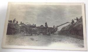 Real-Photo-Postcard-Threshing-Machine-at-Work-1904-1920-039-s