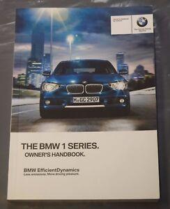 genuine bmw 1 series f20 f21 2011 2015 handbook owners manual book rh ebay co uk bmw 1 series owners manual 2014 bmw 1 series service manual