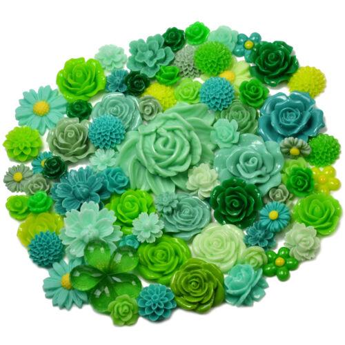 PURPLE SET Resin Flatback Flower Rose Cabochon Craft Embellishments Decoden Gems