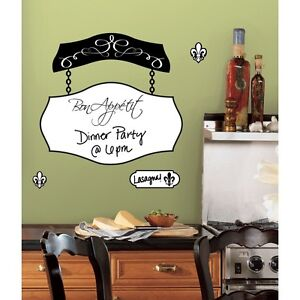Image Is Loading Bon Appetit Dry Erase Board Wall Decals Kitchen